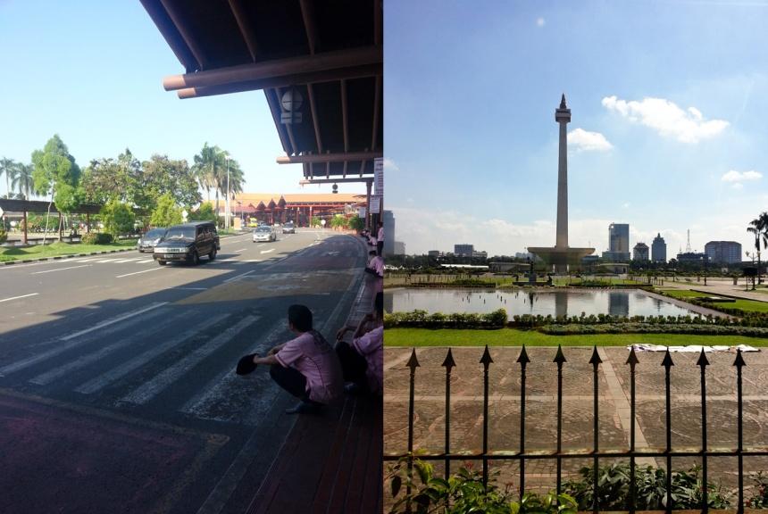 Aéroport de Jakarta / Une place près de la gare